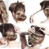 Як зробити пучок із волосся різної довжини