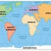 Океани і материки, їх назви, розташування на карті